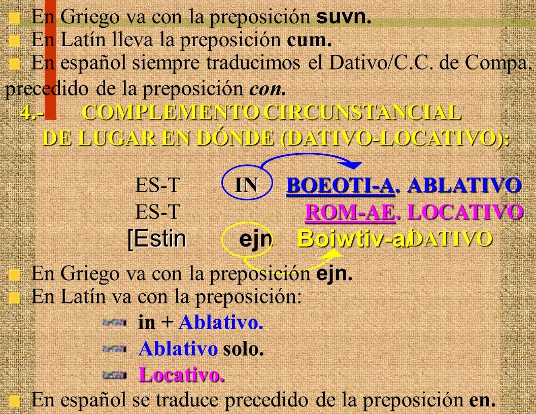 [Estin ejn Boiwtiv-a/ En Griego va con la preposición suvn.